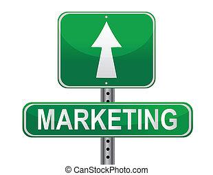 marketing, strategia, segno