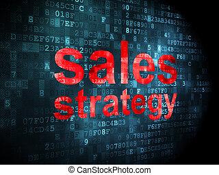 marketing, vendite, strategia, fondo, digitale, concept:
