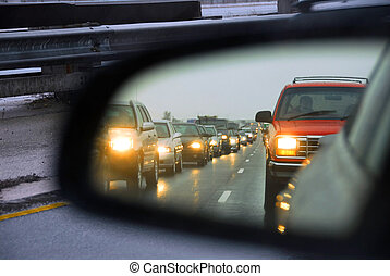 marmellata, traffico, specchio