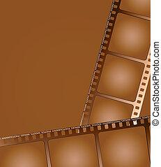 marrone, 2, contorno, film