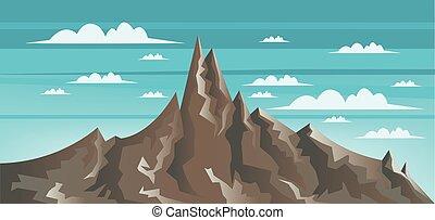 marrone, astratto, monte, paesaggio