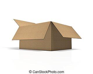 marrone, cartone, pacco