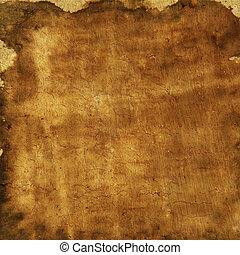 marrone, grunge, colorito, astratto, giallo, carta, struttura, fondo, o