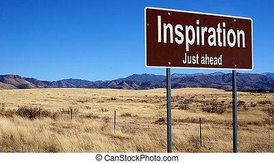marrone, ispirazione, segno strada