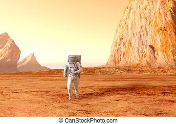 marte, astronauta