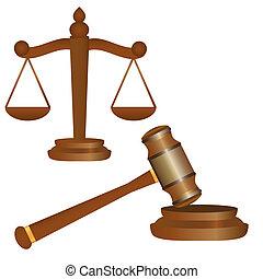 martelletto, scale, giustizia