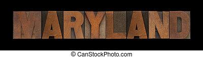 maryland, vecchio, legno, tipo