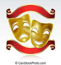 maschere, teatrale