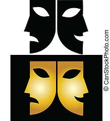 maschere, teatro