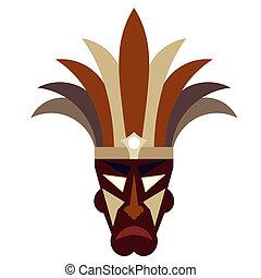 mascherina tribale, sfondo bianco
