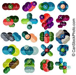 mascherine, #2, cerchio, set, infographic