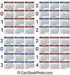 mascherine, 2011-2014, calendario