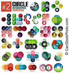 mascherine, enorme, set, infographic, #2, cerchio