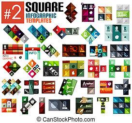 mascherine, enorme, set, infographic, quadrato, #2