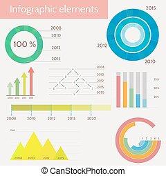 mascherine, infographic, set