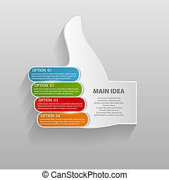 mascherine, vettore, illustration., affari, infographic
