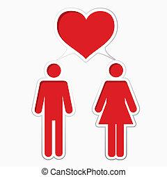 maschio, femmina, amare