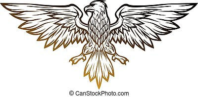 mascotte, spalmare, aquila, wings.