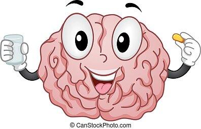 mascotte, supplemento, cervello