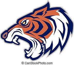 mascotte, testa tigre