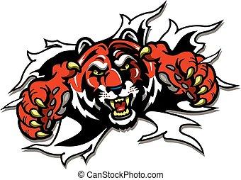 mascotte, tiger