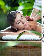 massaggio, donna