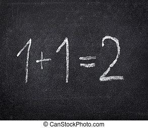 matematica, scuola, aula, lavagna, educazione