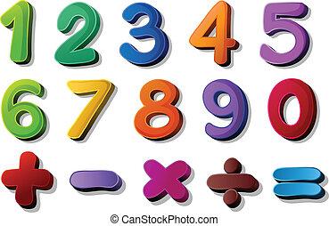 matematica, simboli, numeri