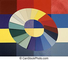 mater, colorito, campioni, laminato