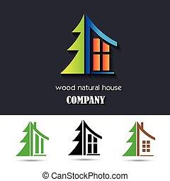 materiale, casa, simbolo, legno