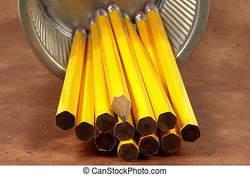 matita, affilato, 2