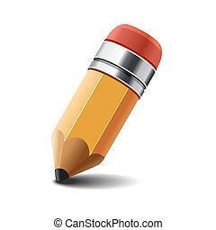 matita, bianco, vector., fondo.