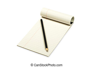 matita, carta, lettura, giallo
