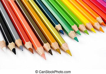 matita colore, bianco