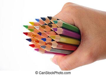 matita colore, mano