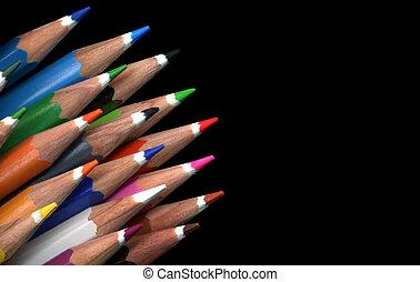 matita colore, molti