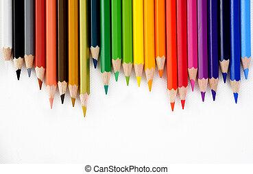matita colore, sfondo bianco