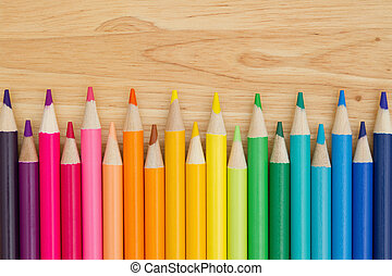matita, educazione, pastello, colorito, fondo