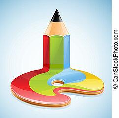 matita, simbolo, arte, visuale