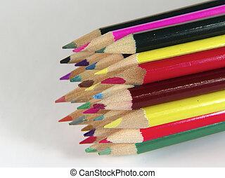 matite, 2, colorato