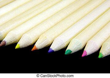 matite, allineato, 2