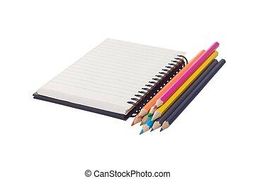 matite, colore, quaderno