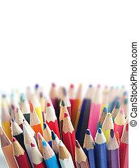 matite, differente, colori