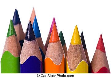 matite, multicolor