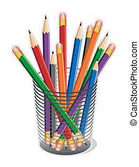 matite, multicolor, piombo