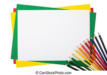 matite, paper., variopinto