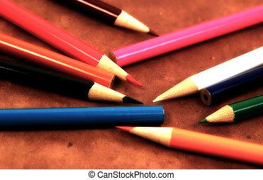 matite, sparso