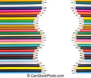 matite, uggia, colorato