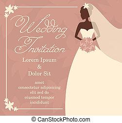 matrimonio, sagoma, invito