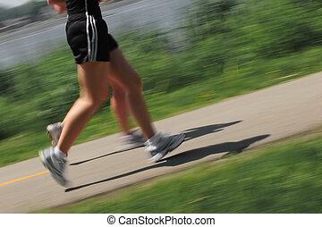 mattina, fare jogging